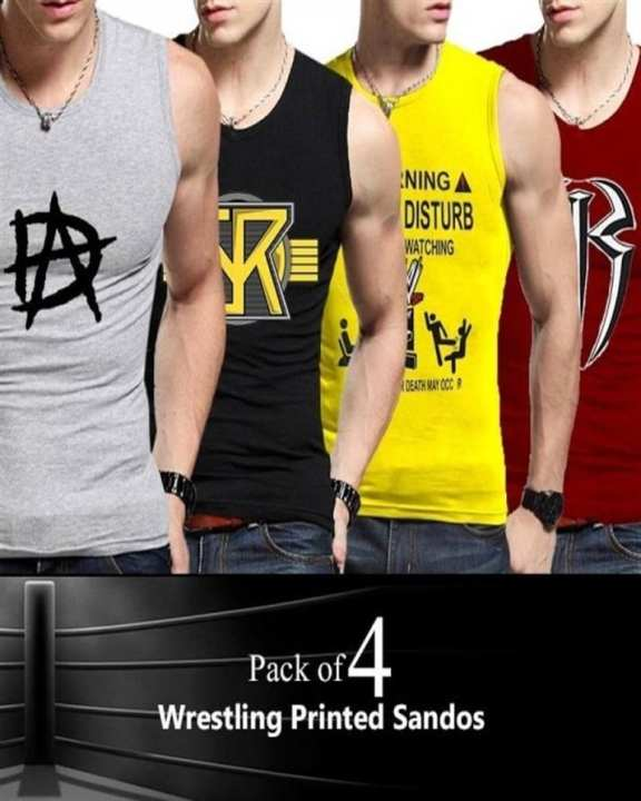 Pack Of 4 Wrestling Printed Tops