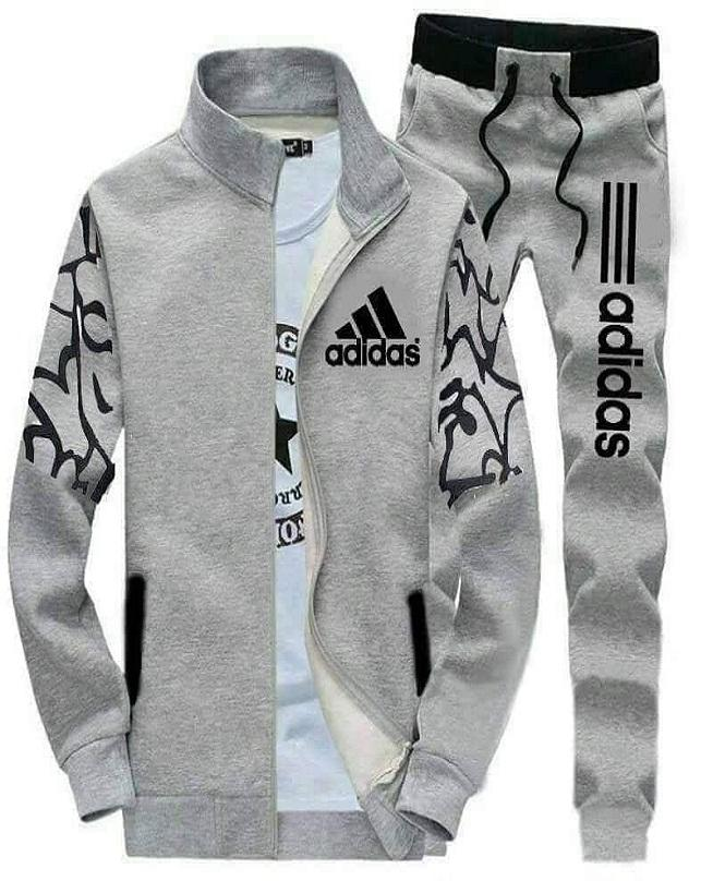 fbd02bcc6fd6 Track Suit Coat and Trouser For Men Grey color Adidas