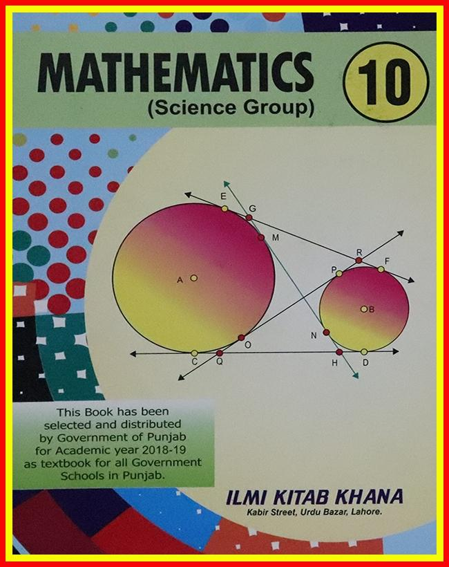 Mathematics Science Group of Class 10 With Binding - EM