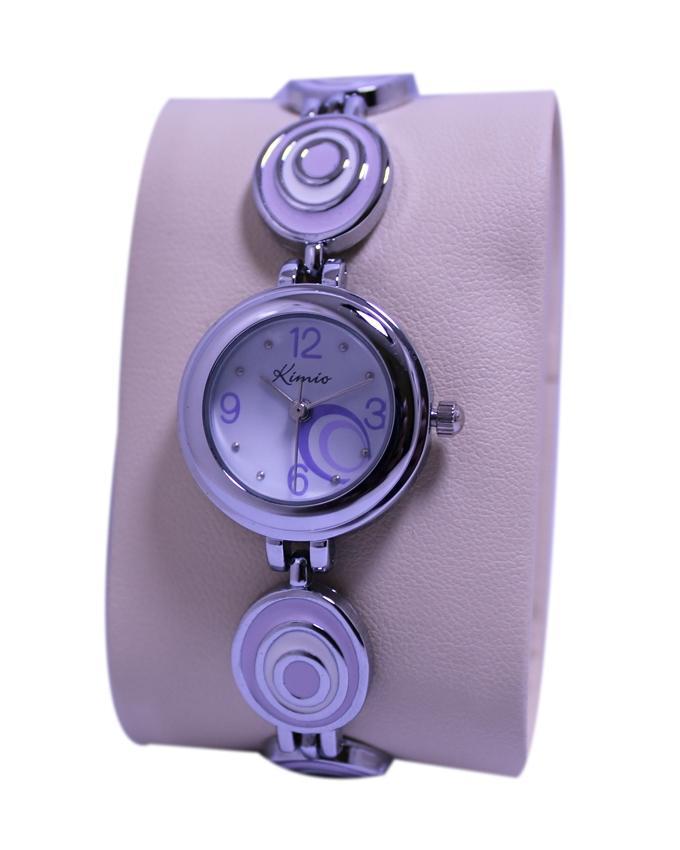 Purple Steel Oval Bracelet Watch For Women