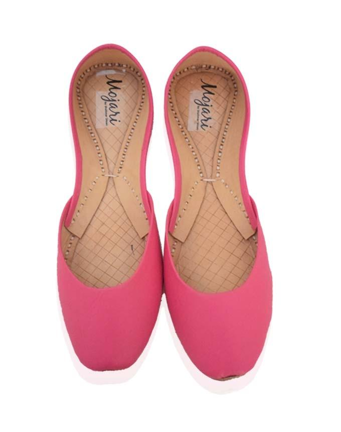 Pink Leather Khussa for Women