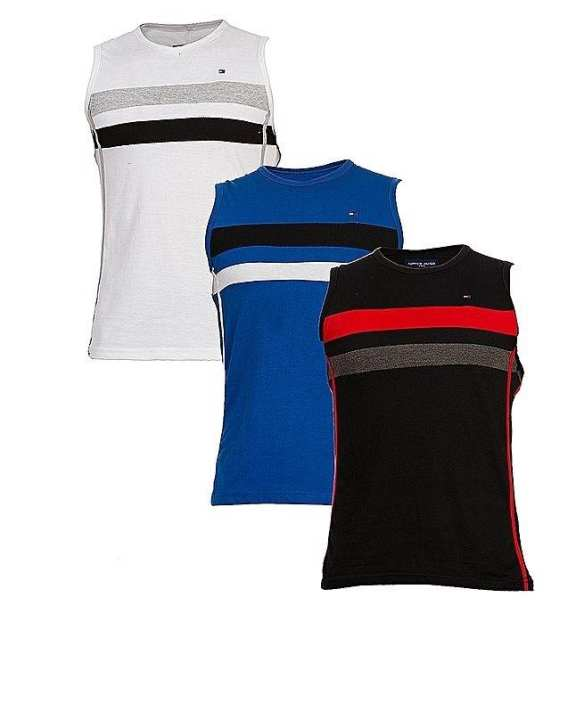 Pack Of 3 - Multicolor Cotton Tank Top For Men