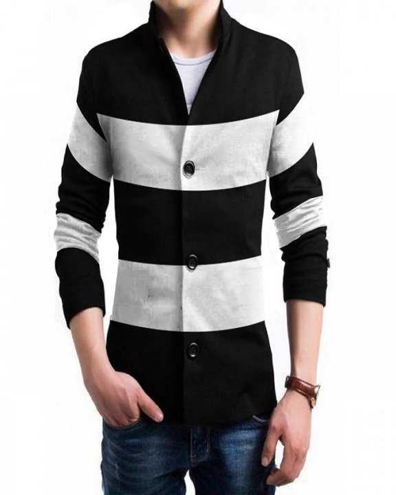 Black Fleece Coat For Men