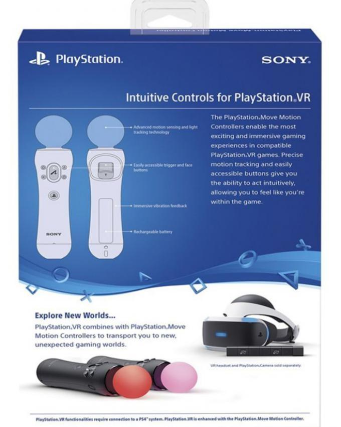 Pack of 2 - Move Motion Controller For Play Station - Black