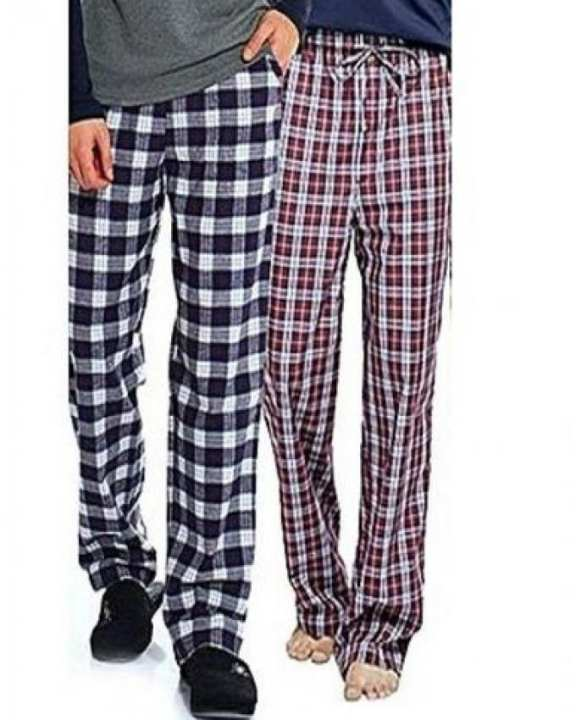 pack of 2  Multicolour Cotton Checkered pajamas for Men