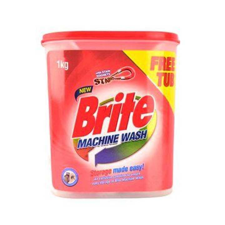 Brite Machine Wash Powder With Jar 1 Kg