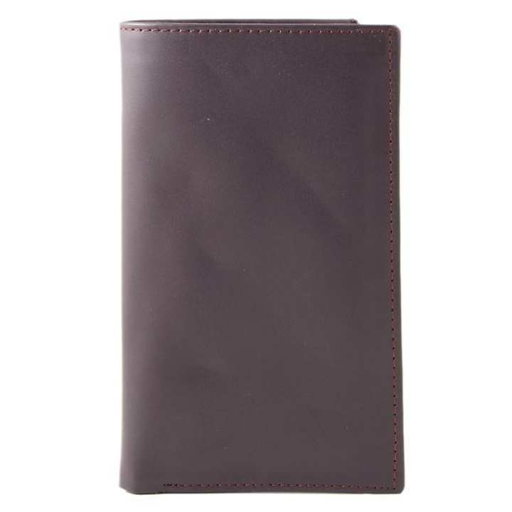 14 Pockets Vintage Stitched Leather Dark Brown Wallet for Women
