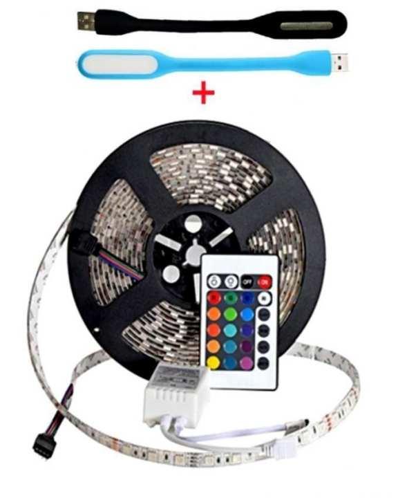 Pack of 3 - Flexible Strip & USB Led Light for Laptop - Multicolor