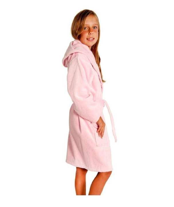 Pink Egyptian Cotton Toweling Bathrobe For Kids