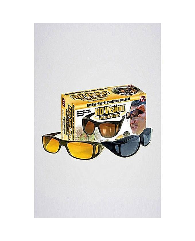 09b44639fba Pack of 2 - HD Night Vision   day Glasses - Black   Yellow