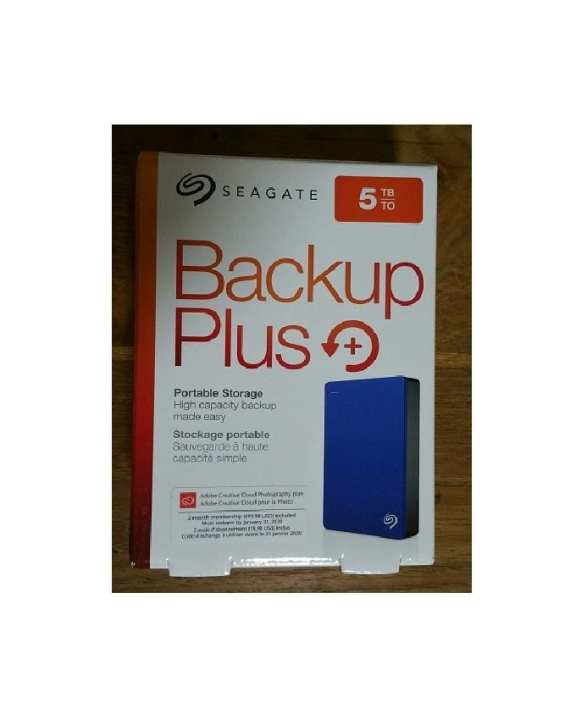 Seagate Backup Plus 5TB Portable External Hard Drive - USB 3.0 - STDR5000102 - Blue