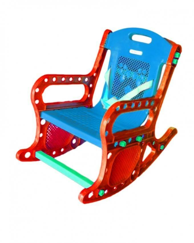 Rocking Chair for Kids - Red and Sky Blue