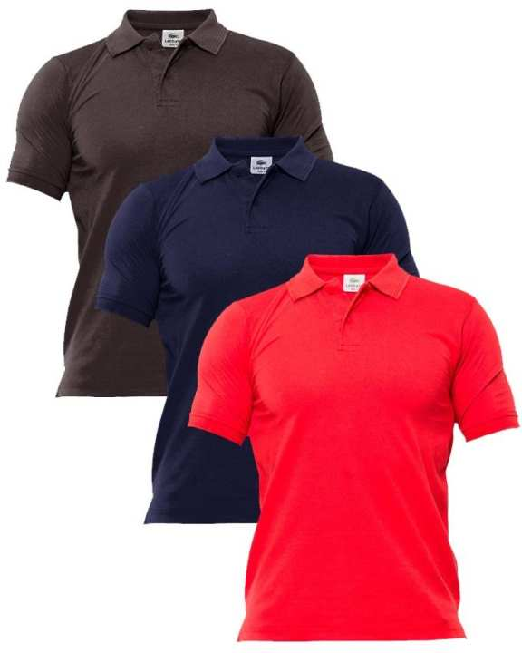 pack of 3 casual polo shirts
