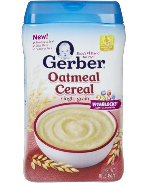 Gerber Oatmeal Cereal Single Grain 454g
