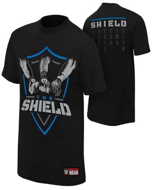 Regal Outfit The Shield Black Cotton T-Shirt For Men