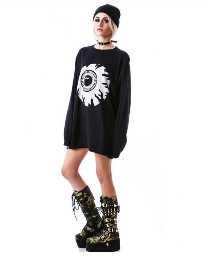 Black Fleece Eye Sweatshirt for Women