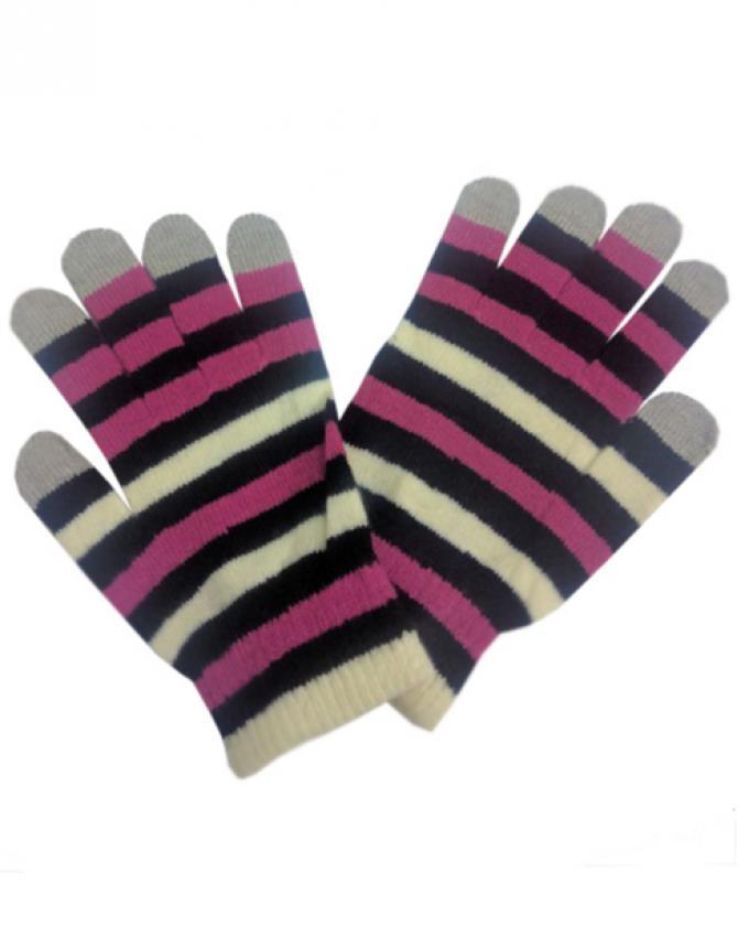 Pair of Multicolor Wool Gloves - Smart Phone User