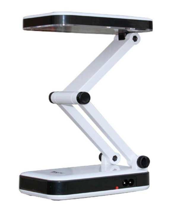 LED-666 - Folding Desk LED Plastic Table Lamp - White