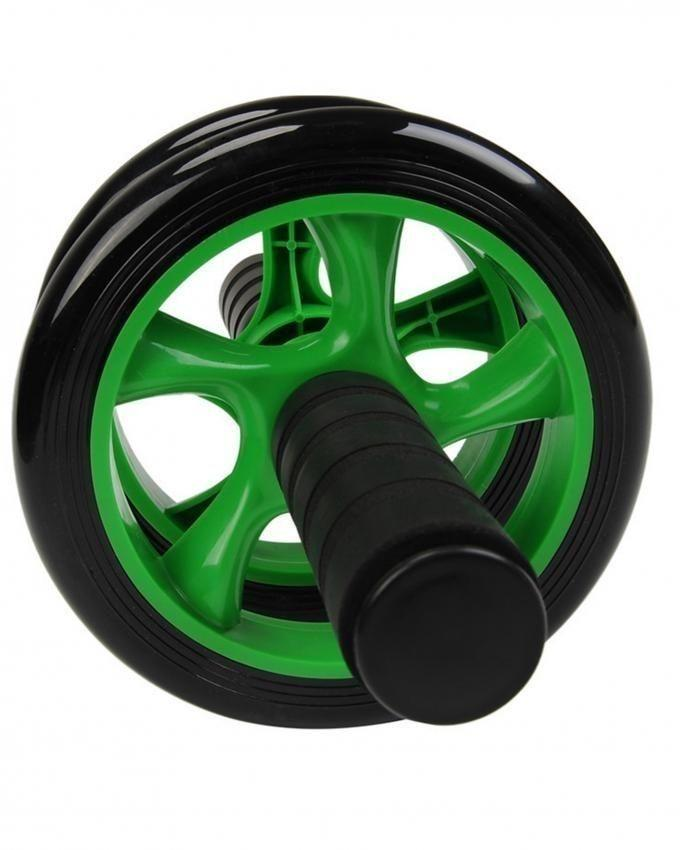 Two Wheeled Abdominal Roller - Black & Green - Large