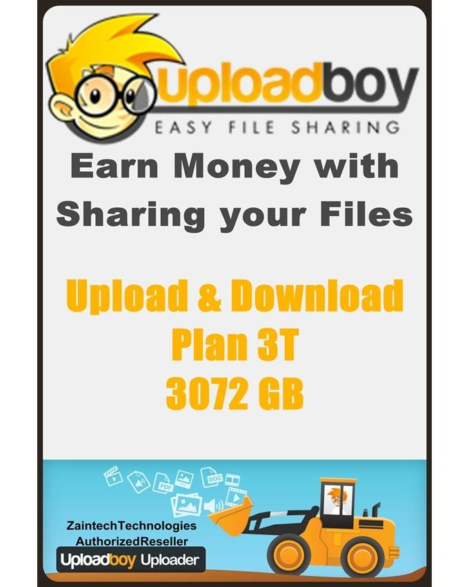 Uploadboy Secure Storage & Sharing - Plan 3T - 3072GB - 1 Month