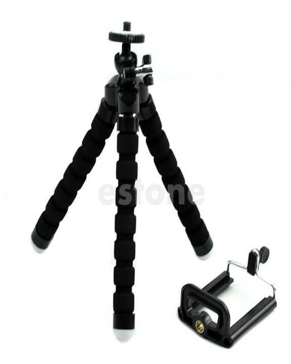 Flexible Octopus Camera / Mobile Tripod Stand - Black