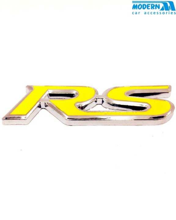 RS Metal Monogram Chrome Yellow