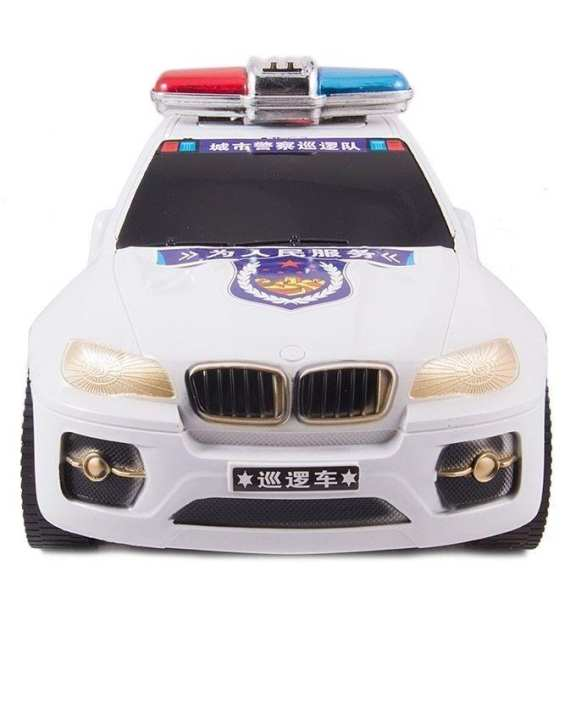 Express Famous Police Model Car - White