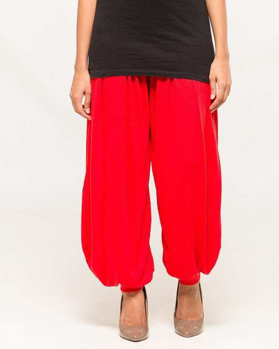 Red Viscose Harem Pant for Women