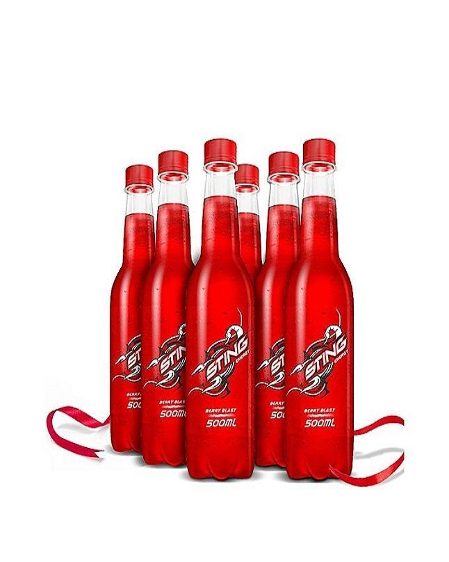 Pack Of 6 Berry Blast Energy Drink 500ml