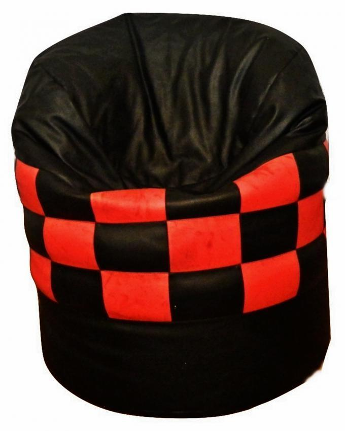 Lounger Bean Bag - Black & Red