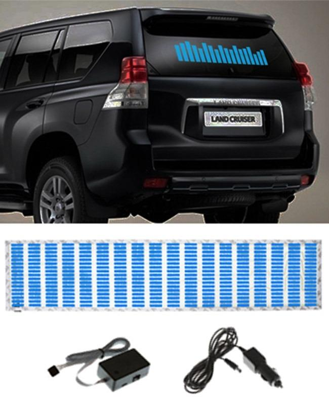 Car Sticker Music Rhythm LED Flashlight - Blue