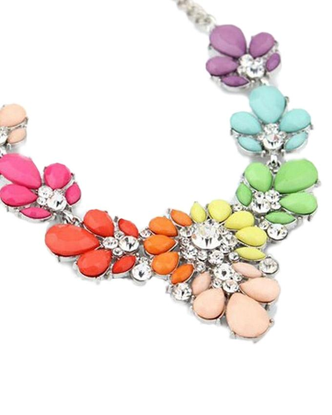 Multicolor Alloy Choker Necklace For Women