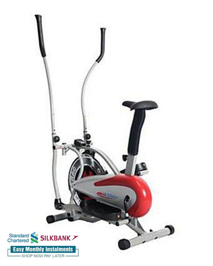 674818f91d7 Fitness Club MT Steel - Elliptical Trainer and Exercise Bike - Grey   Red
