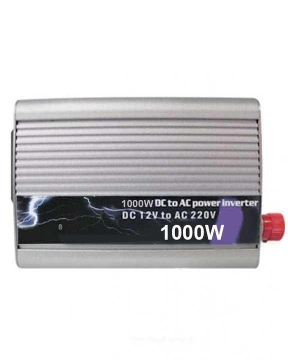 DC 12V to AC 220V Power Inverter - 1000W - Silver