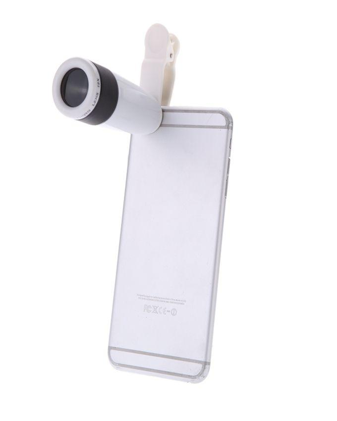 12x Zoom Optical Telescope Lens With Universal Clip - White
