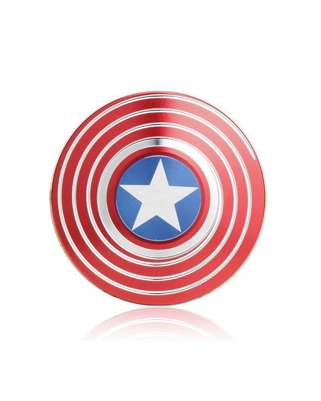 Fidget Spinner - Captain America Metal Shield - Red