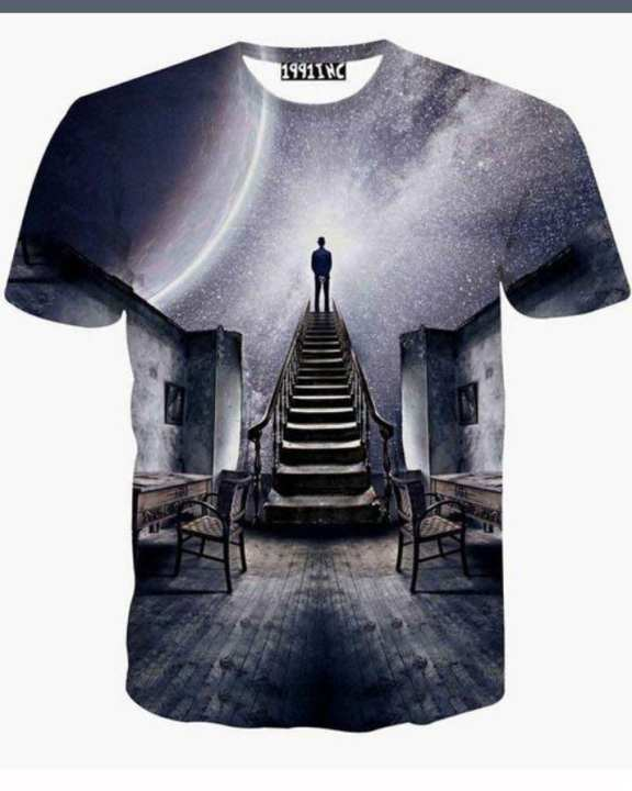 3D Digital Printed All Over T-Shirt -1011