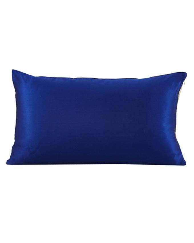 SOLID SILK SATIN CONTRAST COLOR PILLOW COVER - PLW03-RB,SLV