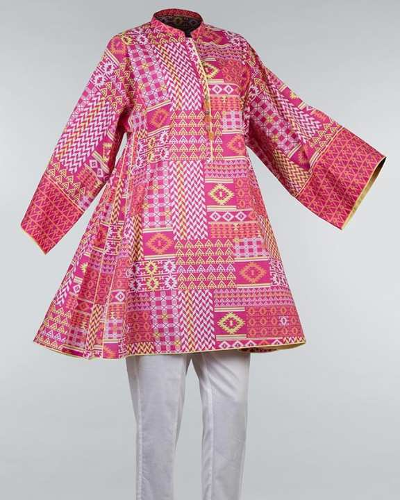 Multicolor Cambric Kurta For Women