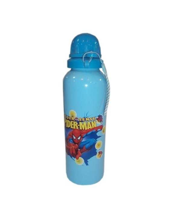 Spider Man Printed Water Bottle - Blue