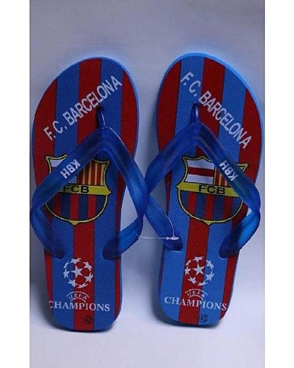 Blue Rubber Flip Flops For Men