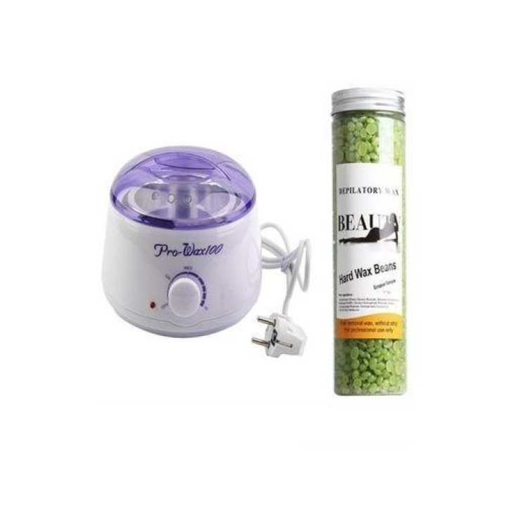 Pack Of 2 - Wax Machine & Wax Beans Jar  - 400g