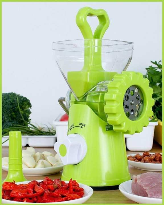 New Multifunction Meat Mincer High Quality Grinder - Green
