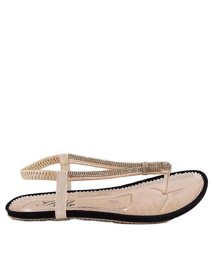 Golden Leather Shining V-Strap for Women - US11