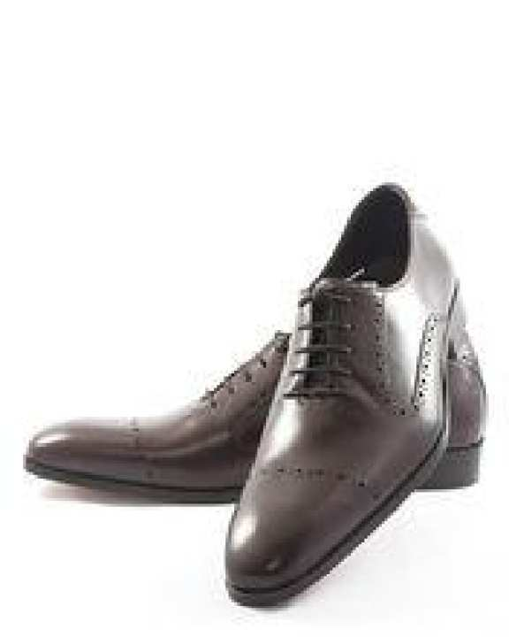 Dark Brown Cow Leather Oxford Punch Up Design Jc-19
