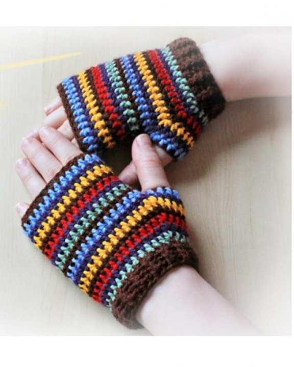 Multicolour Wool Gloves for Women