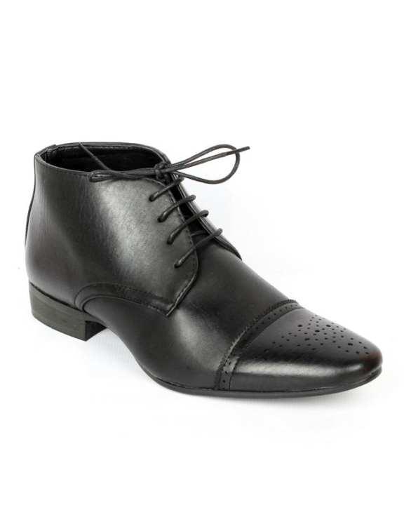 Black Formal Leather Shoes For Men
