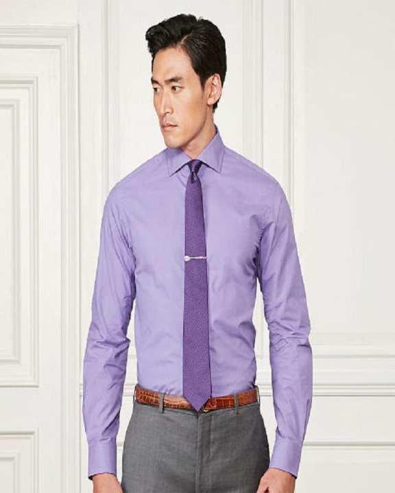 Purple Dress / Formal Shirt For Men Office Wear