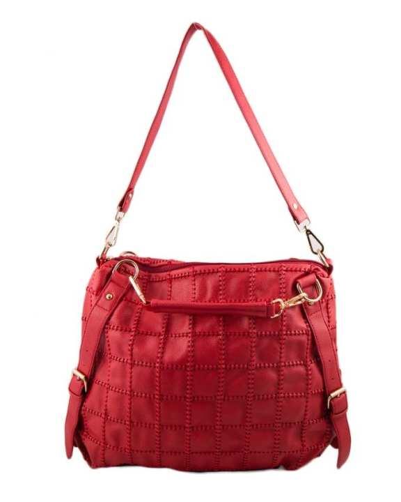 Red Leather Handbag for Women