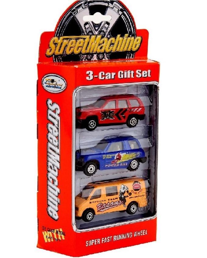 Street Machine Set of 3 Die Cast Cars - Multicolour
